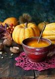 Autumn Pumpkin soup Stock Photo