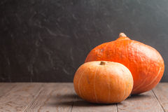 Autumn Pumpkins, rustic background Royalty Free Stock Photo