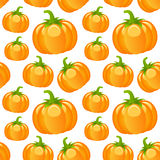 Autumn Pumpkins Seamless Pattern Stock Image