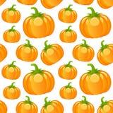 Autumn Pumpkins Seamless Pattern Stock Image
