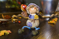 Autumn puppet Stock Images