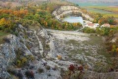 Autumn quarry Stock Image