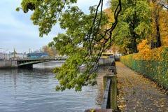 Autumn quay Stock Photos