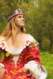 Autumn queen royalty free stock images