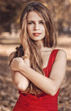 Autumn queen. Woman beauty Royalty Free Stock Image
