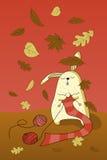 Autumn rabbit Royalty Free Stock Image