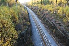 Autumn railroad Stock Photos
