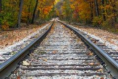 Autumn Rails Stock Photos