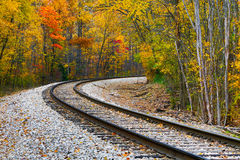 Autumn Railway Royalty Free Stock Photography