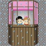 Autumn Rain Melancholie Vector grafiek Stock Foto's