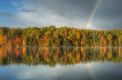 Autumn Rainbow, Moccasin Lake Stock Photos