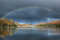 Autumn Rainbow Scout Lake Royalty Free Stock Image