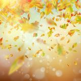 Autumn Rainy colorful blur bokeh background. EPS 10 vector Royalty Free Stock Photo