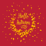 Autumn Red Background Illustration de Vecteur