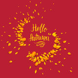 Autumn Red Background Illustration Stock