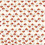 Autumn red leaf vine repeat pattern Background. Royalty Free Stock Photography