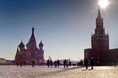 Autumn on Red Square in Moscow Stock Photo