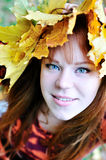 Autumn redheaded gril Stock Photography