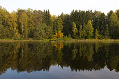 Autumn reflected in the lake Royalty Free Stock Photography