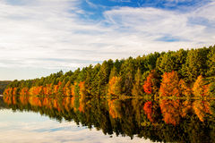 Autumn Reflection Stockbild