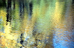 Autumn reflection background in Renoir style Royalty Free Stock Images