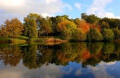 Autumn reflection royalty free stock photo