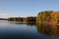 Autumn Reflection in a Lake. Autumn reflection in alake in New England Stock Photography
