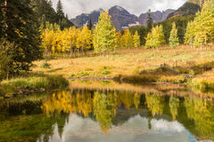 Autumn Reflection at Maroon Bells Royalty Free Stock Images