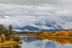 Autumn Reflection at Oxbow Bend Stock Photos