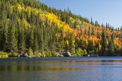 Autumn Reflections in Bear Lake Royalty Free Stock Images