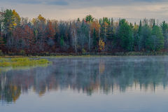 Autumn reflections, bond falls basin Stock Image