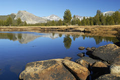 Autumn reflections at Tuolumne River Royalty Free Stock Image