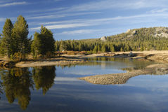 Autumn reflections at Tuolumne River in Yosemite Stock Photos