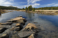 Autumn reflections at Tuolumne River in Yosemite Royalty Free Stock Photos