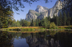 Autumn reflections in Yosemite Valley Stock Image