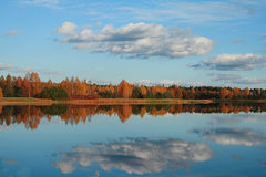 Autumn reflexion Stock Image