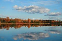 Autumn reflexion stock image