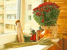 Autumn registration of balcony Stock Photography