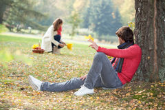 Autumn relaxing Stock Photo
