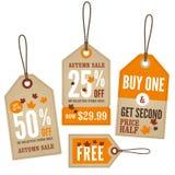 Autumn Retail Labels ilustración del vector