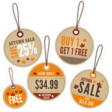 Autumn Retail Labels Stock Photos