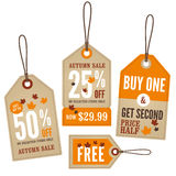 Autumn Retail Labels Stock Images