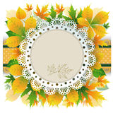 Autumn retro background Royalty Free Stock Image