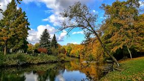 Autumn in Rinteln. Park Autumn colours !Sea Stock Photos