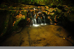 Autumn river. Slănic during the autumn Stock Photo