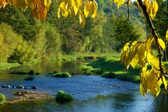 Autumn River Stockfoto