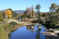 Autumn River. The McDonald River at Bendemeer, NSW, Australia Stock Image