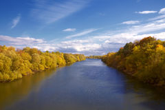 Autumn river banks Royalty Free Stock Photo