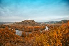 Autumn river at evening Royalty Free Stock Photos