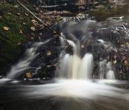 Autumn River Long Exposure, Belgium Stock Photo